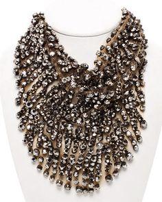 vera wang crystal bib necklace