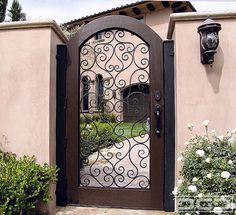 Stunning Front Fence With Gate Design Ideas — Fres Hoom Fence Gate Design, Front Gate Design, House Gate Design, Gate House, Door Design, Exterior Design, Front Gates, Entrance Gates, House Entrance