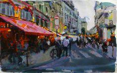 Una calle de Paris. 38x61 Figure Painting, Ideas, Thoughts
