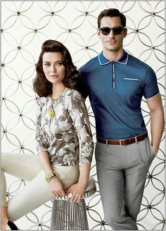Banana Republic Mad Men Collection. I'm guessing this is supposed to be Don and Megan?