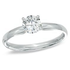0.20 CT. Certified Prestige® Diamond Solitaire Engagement Ring in 14K White Gold (I-J/I1) ITEM# 19703685   -699