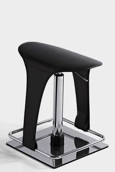 Olé Saddle Leather Seat, Futuristic Alternative Swivel Bar Stools
