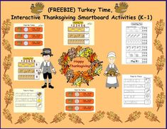 "This FREE product is a Smart Notebook file. You must have Smart Notebook Software to download this file. There are 7 pages in this product: Page 1 Students must ""Feed the Turkey"" corn kernels. They drag the correct number of kernels to the plate. They can click on the answer button to reveal t... Love Teacher, Teacher Helper, Teaching Math, Teaching Resources, Teaching Ideas, Smart Board Lessons, Corn Kernel, Turkey Time, Thing 1"