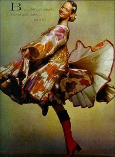 Zandra Rhodes dress in British Vogue, 1973