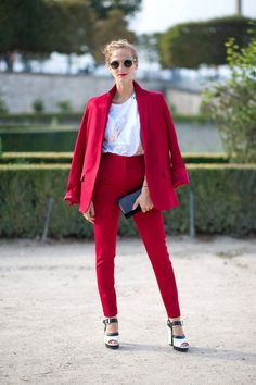Annie Georgia Greenberg   - HarpersBAZAAR.com. red is the new spring color....what????