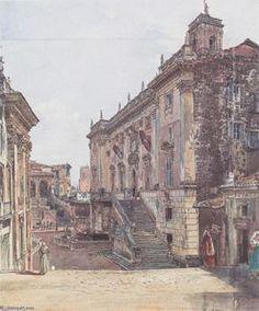 Rudolf Von Alt - der `capitol` an rom
