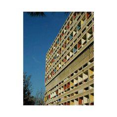 #architecture  La Cité Radieuse built by the architect Le Corbusier in Marseille France in 1952.  #mood #instamood #marseille #inspirational #inspiration #architect #lecorbusier #50s #house #interiordesign #design #citeradieuse #building