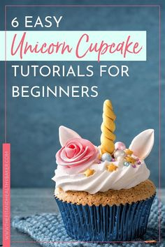 6 Easy Unicorn Cupcake Tutorials for Beginners - The Fit and Healthy Baker - Learn how to make unicorn cupcakes with these six easy tutorials for beginners. Raspberry Smoothie, Apple Smoothies, Unicorn Cupcakes, Unicorn Party, Unicorn Birthday, Diy Unicorn Cake, Birthday Cake, Unicorn Crafts, Birthday Parties