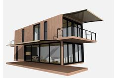 Small wonders: architect Sean Godsell's FutureShack won world acclaim and the modular resPOD is designed with up to six containers.