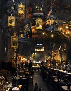 Nob Hill Underground Hive [London´s Old Vic Tunnels Space. The Old Vic Tunnels Space was an underground arts venue and performance space beneath Waterloo train station in London. The space consisted of almost square feet of unused railway tunnels. Restaurant Design, Restaurant Hotel, Decoration Restaurant, Vintage Restaurant, Greenhouse Restaurant, Moroccan Restaurant, Industrial Restaurant, Restaurant Lighting, Modern Restaurant