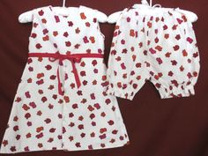 eb0d825888 STRASBURG girl s 3T dress  amp  bloomers. White background with red  flowers. The dress