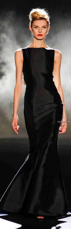 Badgley Mischka black ball gown Fall Winter 2013 Mercedes-Benz Fashion Week
