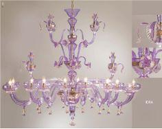 Murano Glass Idra amethyst Gran Rezzonico Chandelier