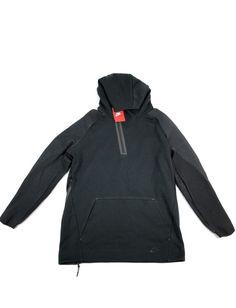 New Nike Mens Tech Fleece Half-Zip Long Hoodie Large Black NWT 805655-010   225 891131c22
