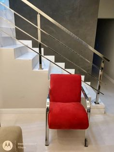 Balustrade Inox, Stainless Steel Stair Railing, Steel Stairs, Cool Tools, Armchair, Ali, Chairs, Furniture, Design