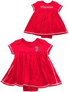 7d23fcb94 Shop Wisconsin Badgers Colosseum INFANT BABY GIRLS Red One Piece Dress  Outfit Red One Piece,