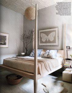 Pencil post platform bed by Canvas