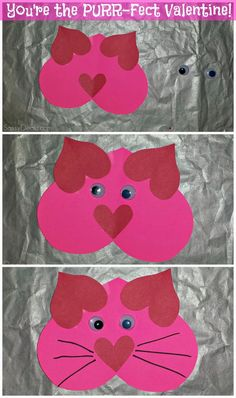 List of Easy Valentine's Day Crafts for Kids (made with heart(s))