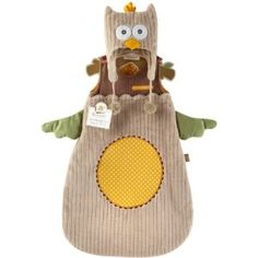 """Baby Aspen """"My Little Night Owl"""" Snuggle Sack and Cap - Could be an infant halloween costume!"""