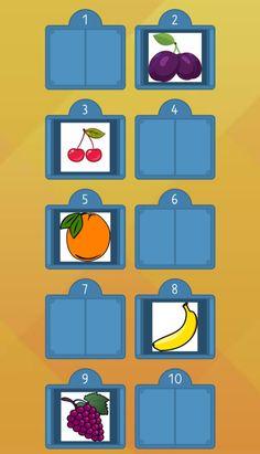 """Joc – Fructe este un joc educațional care are ca obiective dezvoltarea vocabularului și învățarea de cuvinte din categoria ,,fructe"""". L-am conceput în două variante de joc (cutie și roată). Copilul trebuie să învețe să denumească și să identifice 10  Read more… Preschool, Games, Kid Garden, Gaming, Kindergarten, Plays, Preschools, Game, Toys"""