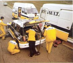 Renault Rallye team, mid 1980s