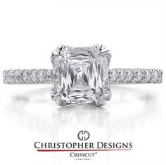 Crisscut Asscher Engagement ring.