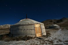 Stay in one of these in the vast Mongolian pastures and ride horses and drink yak milk
