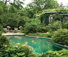 Cottage garden pool: an Arcadian backyard oasis starts with a lush lagoon. By landscape designer André Boisvert. House & Home October 2011. Photo by Angus McRitchie