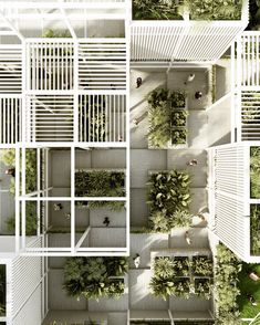 GZ Community Center Grid Architecture, Architecture Concept Drawings, Minimalist Architecture, Sustainable Architecture, Tropical Architecture, Archi Images, Community Housing, Eco City, Tropical Landscaping