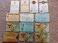 Boy Scout scoreboard cards/etc. from the 1960's (12)