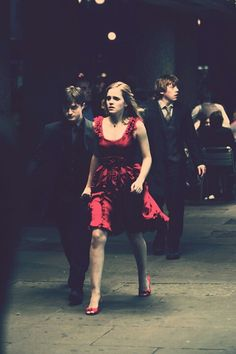 Harry, Hermoine, Ron