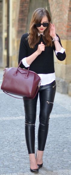 Cropped Sweater Casual Chic Streetstyle                                                                             Source