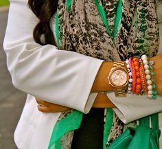 Colorful Scarf & Bracelets