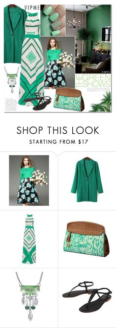 """""""All Green"""" by vanjazivadinovic ❤ liked on Polyvore featuring Cocobelle, women's clothing, women, female, woman, misses, juniors, suede, zaful and vipme"""