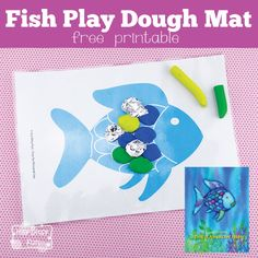 Fish Play Dough Mats - Perfect to go along The Rainbow Fish