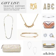Give her the gift she really wants (hint: it's not an apple) because she always goes above and beyond. Show your appreciation with a stylish under $40 link and shop via the link in our profile or connect with a Stylist today! #stelladotstyle #giftguide