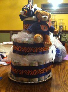 Auburn Tigers Diaper Cake