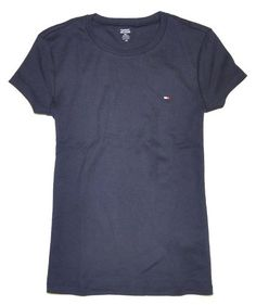 Tommy Hilfiger Women Slim Fit Crewneck Logo T-Shirt for $29.00
