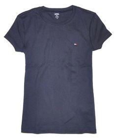 Tommy Hilfiger Women Slim Fit Crewneck Logo T-Shirt for $29.00