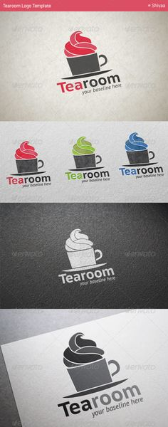 "Tearoom - Logo Template  #GraphicRiver          Tearoom is a clean and elegant logo suitable for any kind of business or personal identity which requires a ""food"" image. Overview   5 Variations: Pink, Blue, Green, Black and White  100% Re-sizable vectors  Easily customizable colors  AI & EPS documents  The ZIP archive contains   A folder with Tearoomlogo (Pink, Blue, Green, Black and White) in AI. & EPS  A text Help File  Fonts Used  PT Sans  I hope you enjoy! If you like it (I hope so!)…"