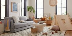West Elm Just Launched More Than 200 New Pieces of Kids' Furniture #dwell #westelm #kidsroom #kidsfurniture Kids Furniture, Outdoor Furniture Sets, Mid Century Nursery, Pottery Barn Teen, Modern Kids, Upholstered Furniture, Living Room Inspiration, Clean Design, Living Room Designs