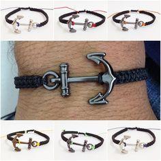 Pulseiras masculinas shambala macrame ancora bracelet man men's fashion