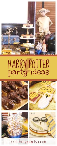 Check out this cool Harry Potter birthday party. The cookies are so much fun!! See more party ideas and share yours at CatchMyParty.com