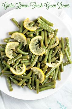 Garlic Lemon Fresh Green Beans only require 6 ingredients and only take about 8 minutes to cook. Blanch green beans in a little water, drain, then pan fry with olive oil, garlic, salt, pepper and lemon. A healthy, quick, easy and impressive dish!