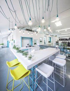 White Blue Botanical Office in Beijing by MAT Office
