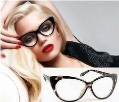 VTG 50s//60s Style Clear Lens Cat Eye  Retro Rockabilly Glasses Fancy Dress UK