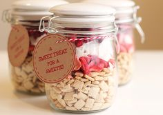 Valentine's Day healthy snack mix with free printables - cute gift idea for teachers