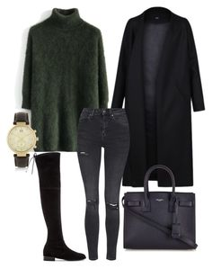 """Simple"" by casualbae123 ❤ liked on Polyvore featuring Chicwish, Stuart Weitzman, Non, Topshop, Yves Saint Laurent and Michael Kors"