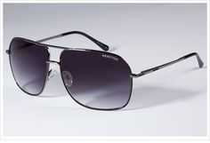 Kenneth Cole Men's Black Aviator Sunglasses with Authentic Case!
