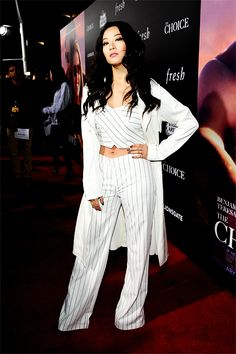Actress Arden Cho attends the premiere of Lionsgate's 'The Choice' at ArcLight Cinemas on February 1, 2016 in Hollywood, California.